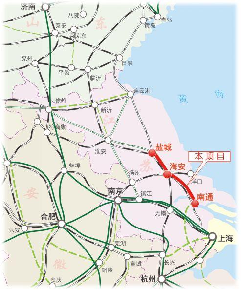 南通沿海规划新建铁路!串联吕四港,通州湾,洋口港!正线73.8公里